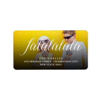 Falalalala Fun Simple Script Holiday Photo Labels