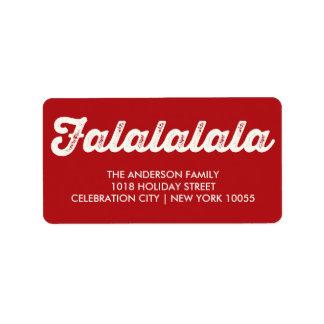 Falalalala Jolly Christmas Holiday Address Label