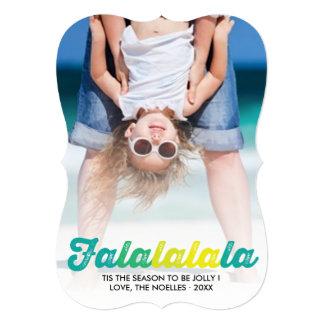 Falalalala Ombre Fun Christmas Holiday Photo Card