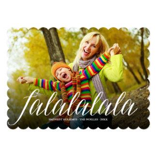 Falalalala Script Modern Fun Holiday Photo Card