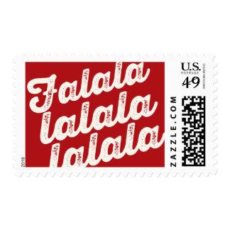 Falalalala sea sellos alegres del día de fiesta de