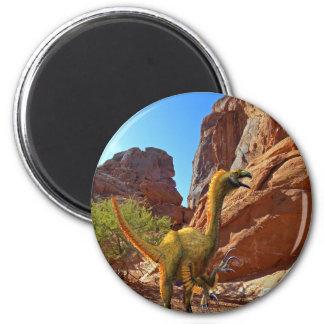 Falcarius Dinosaur 2 Inch Round Magnet