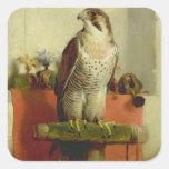 Falcon, 1837 square sticker