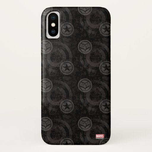 Falcon and Winter Soldier Worn Icon Pattern iPhone X Case