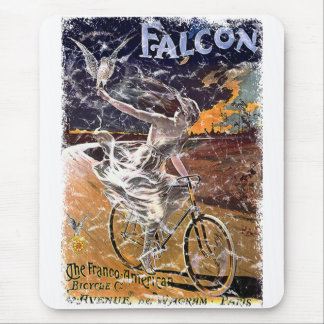 Falcon Bicycle - distressed Mousepads