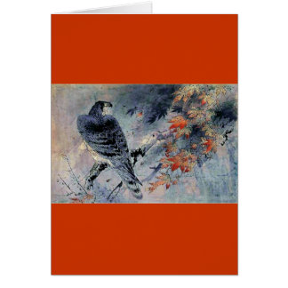 Falcon Bird Japanese print Card