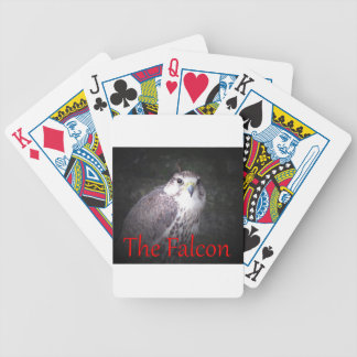 Falcon, bird of prey , wildlife,  nature,  photo bicycle playing cards