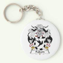 Falcon Family Crest Keychain