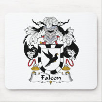 Falcon Family Crest Mousepad