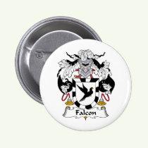 Falcon Family Crest Button