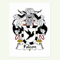 Falcon Family Crest Postcard