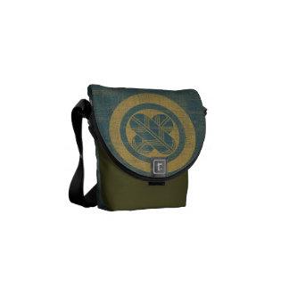 Falcon Feathers Crest Messenger Bag - denim