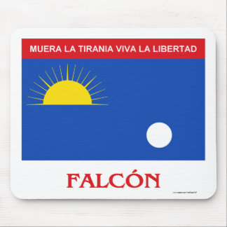 Falcón Flag with Name Mouse Pad