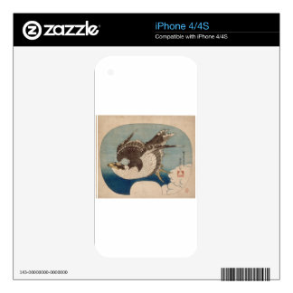 Falcon in flight by Katsushika Hokusai Skins For The iPhone 4