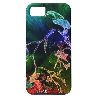 Falcon in Fruit Tree (Emerald Forest)-iPhone case iPhone 5 Case