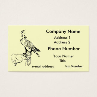 Falcon on Glove Business Card