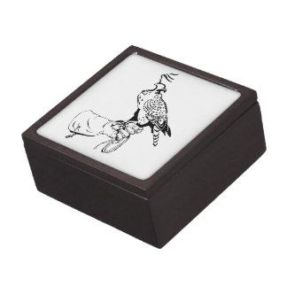 Falcon on Glove Keepsake Box