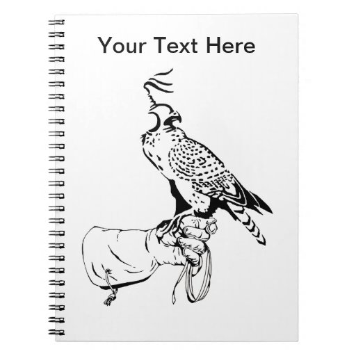 Falcon on Glove Spiral Note Book