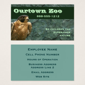 Falcon on Green Stone Business Card