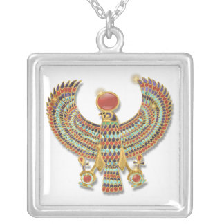 Falcon pectoral silver plated necklace