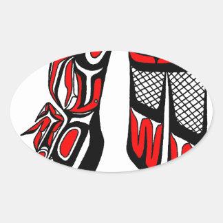 falcon red oval sticker