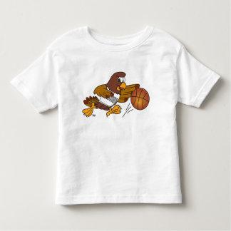 Falcon School Mascot Playing Basketball Toddler T-shirt