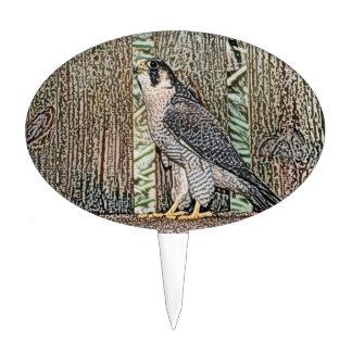 falcon sketch bird design wild animal cake topper