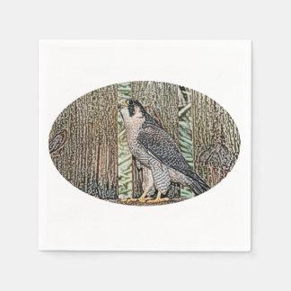 falcon sketch bird design wild animal disposable napkin