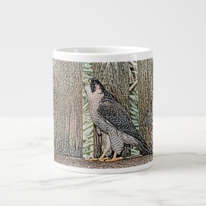 falcon sketch bird design wild animal extra large mugs