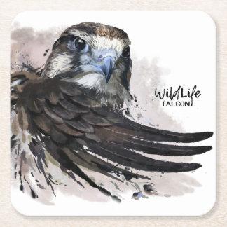 Falcon Square Paper Coaster