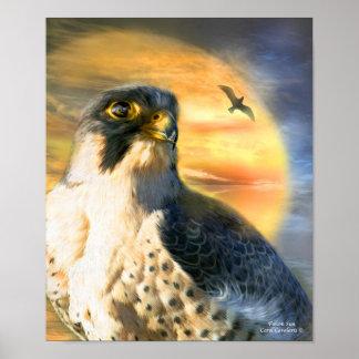 Falcon Sun Art Poster/Print