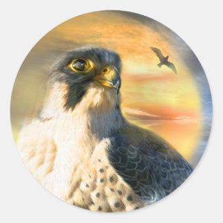 Falcon Sun Art Sticker