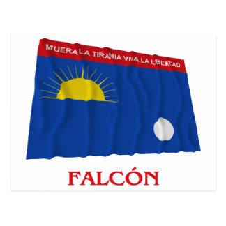 Falcón Waving Flag with Name Postcard