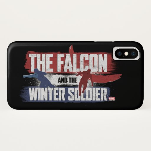 Falcon & Winter Soldier Red and Blue Graphic iPhone X Case