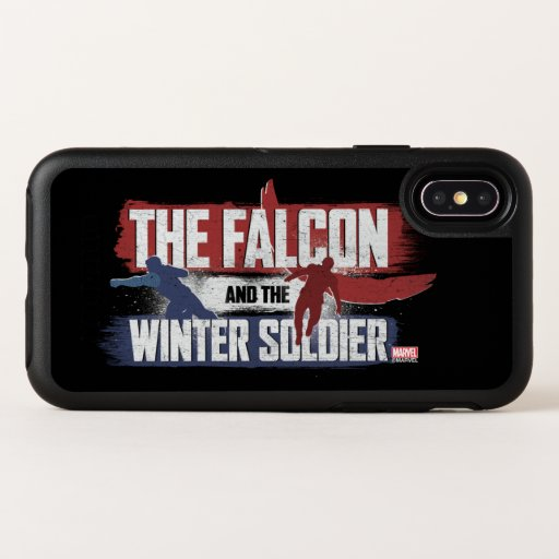 Falcon & Winter Soldier Red and Blue Graphic OtterBox Symmetry iPhone X Case