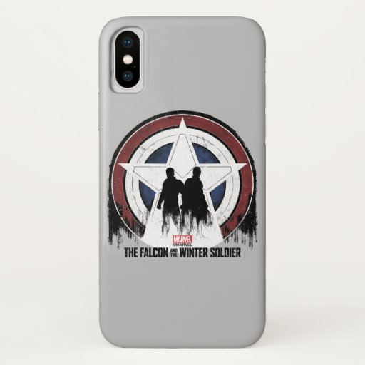 Falcon & Winter Soldier Shield Silhouettes iPhone X Case