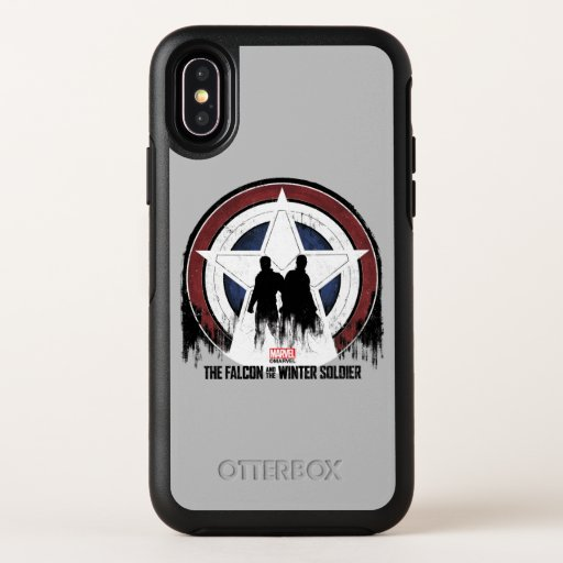 Falcon & Winter Soldier Shield Silhouettes OtterBox Symmetry iPhone X Case