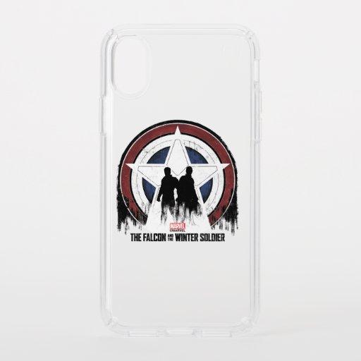 Falcon & Winter Soldier Shield Silhouettes Speck iPhone X Case