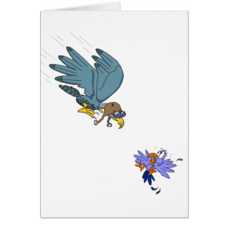 Falcon with goggles card