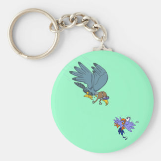 Falcon with goggles keychain