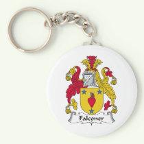 Falconer Family Crest Keychain