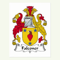 Falconer Family Crest Postcard