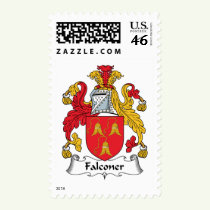 Falconer Family Crest Stamps