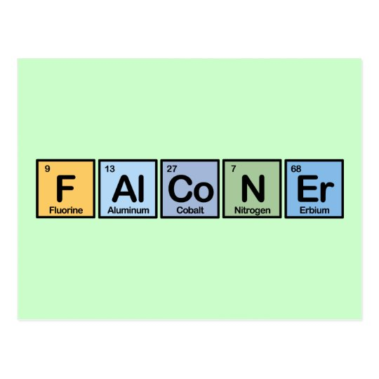 Falconer made of Elements Postcard