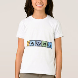 Girls' American Apparel Fine Jersey T-Shirt with Falconer design