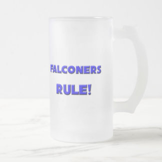 Falconers Rule! Frosted Glass Beer Mug