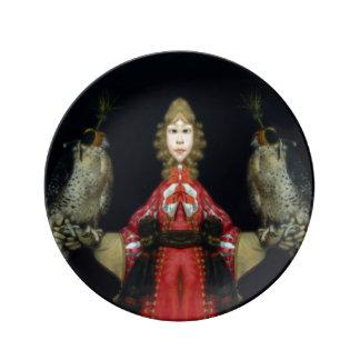 Falconry Porcelain Plate