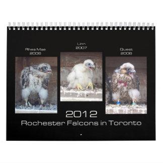 Falcons 2012 de Rochester en el calendario de