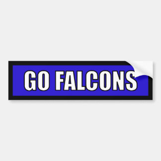 Falcons - Black Blue White Car Bumper Sticker