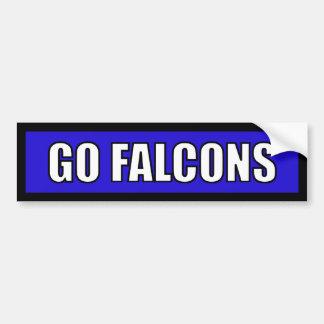 Falcons - blanco azul negro pegatina para auto